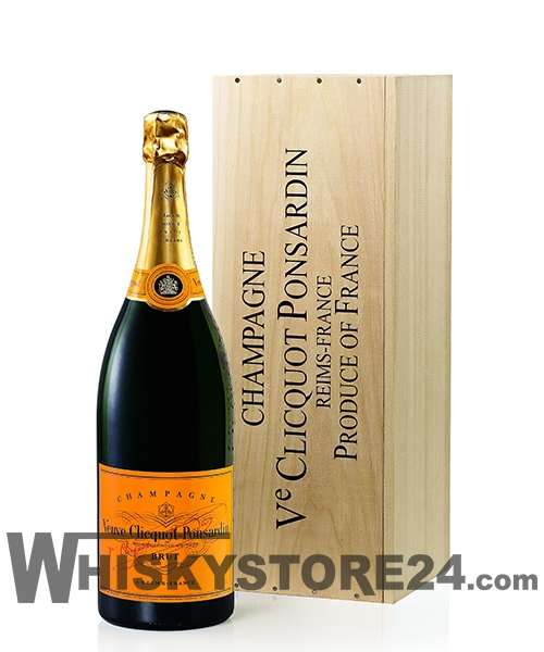 Veuve Clicquot Brut 3 l in Holzkiste